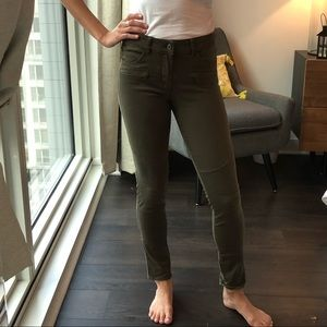 H&M Divided army green moto pants - skinny fit